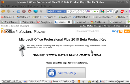 product key crack for microsoft office professional plus 2010